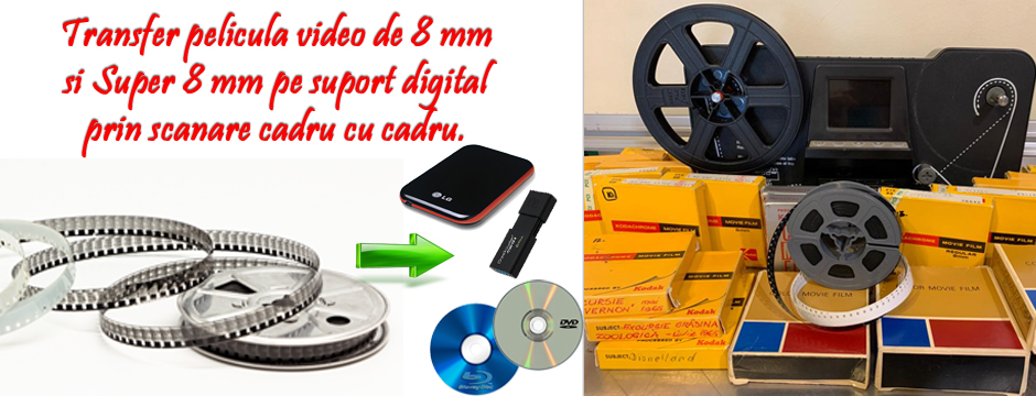 transfer film, pelicula 8 mm